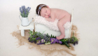 Gorgeous newborn baby photography by Kelly