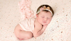 little cute newborn baby girl