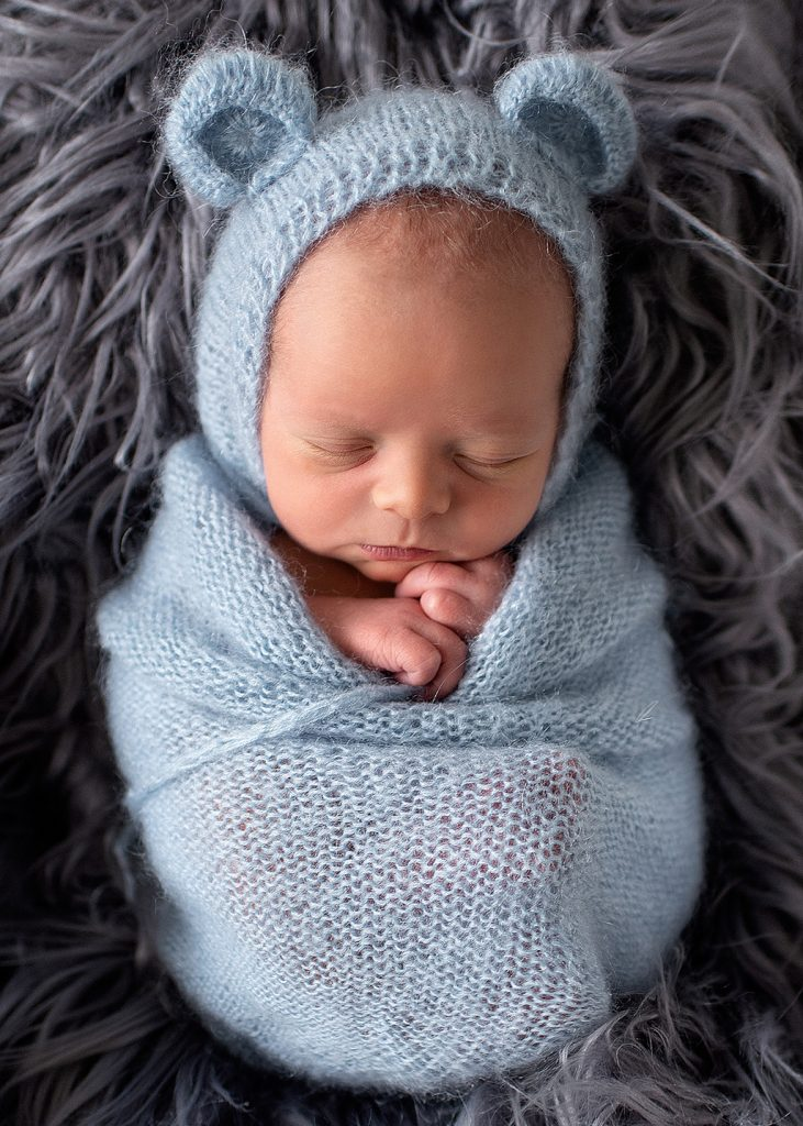 little bear baby - professional newborn photography by Kelly McCambley