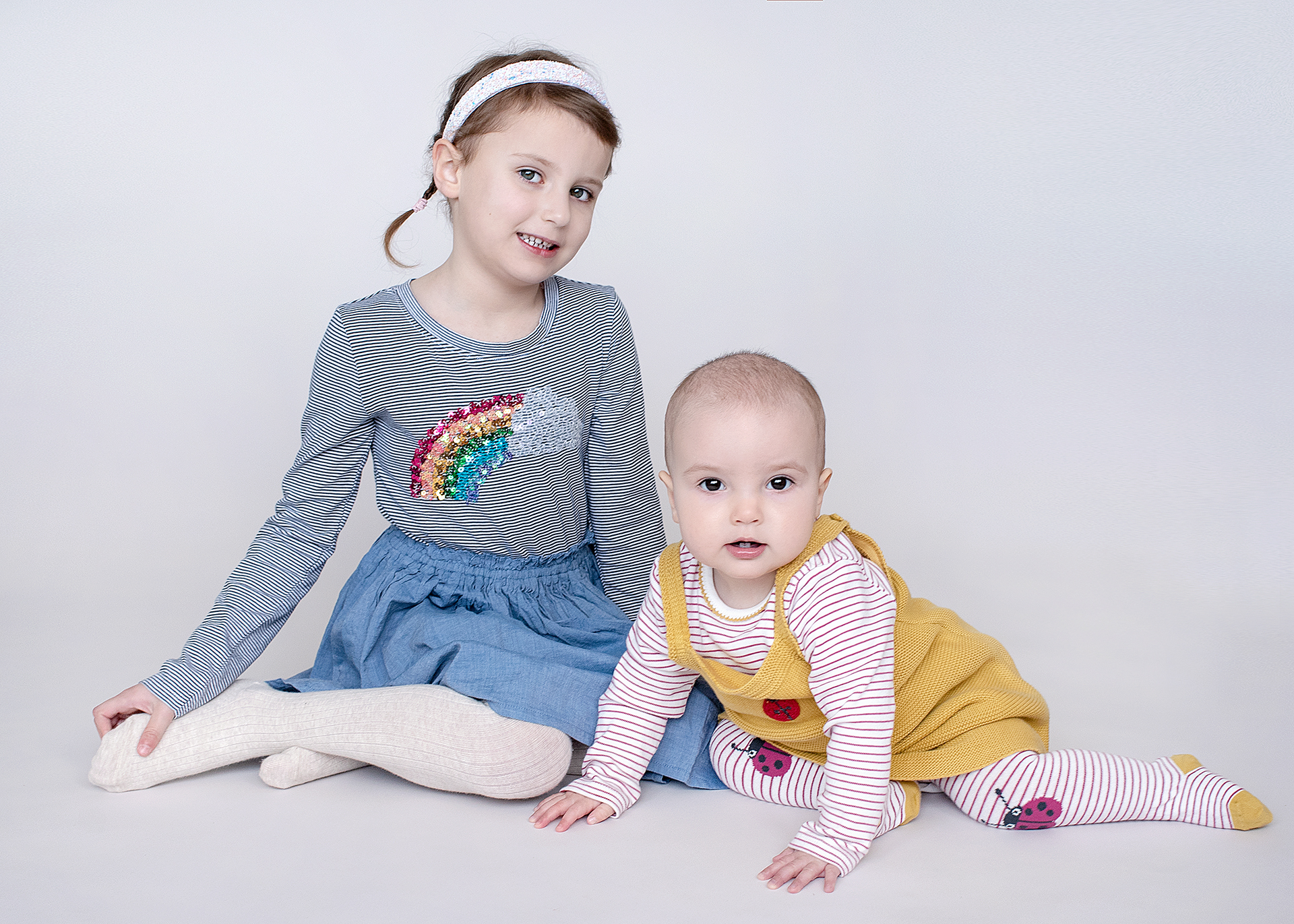 Older sister with younger sister together